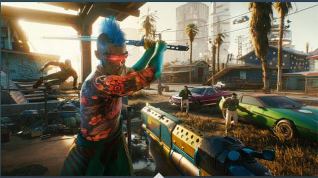 صورة من داخل لعبة Cyberpunk 2077