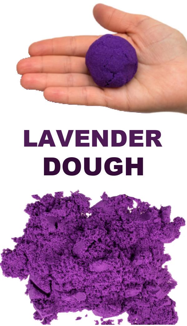 Lavender scented cloud dough for kids  #clouddough #clouddoughrecipe #lavender #timeoutideasforkids #playdough #growingajeweledrose #activitiesforkids