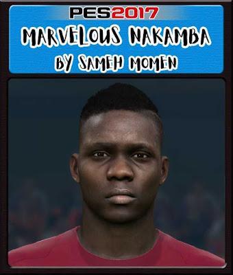 PES 2017 Marvelous Nakamba Face by Sameh Momen