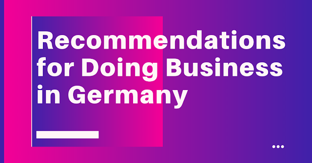 Recommendations for doing business in Germany