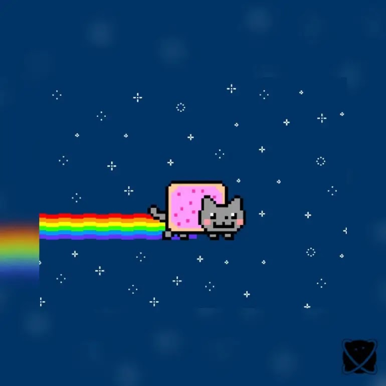 As a one-of-a-kind piece of crypto art, Nyan Cat meme art sells for over $600,000