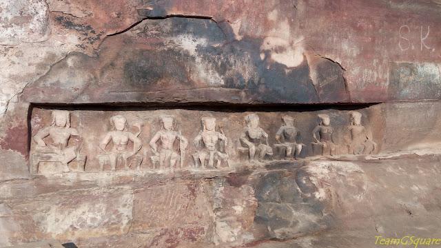 Saptamathrikas Cave Temple, Badoh Pathari
