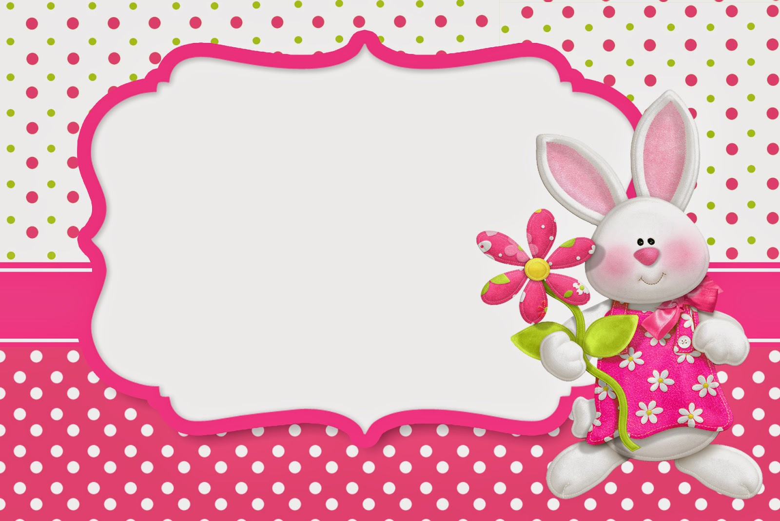Easter In Pink Free Printable Invitations Oh My Fiesta