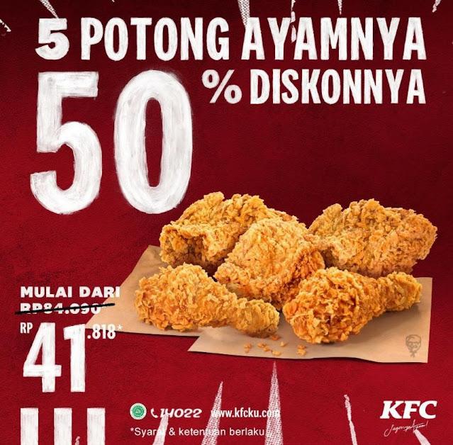 Promo KFC 26 November 2020, 5 Potong Ayam Dimulai Dari Harga Rp 41.818