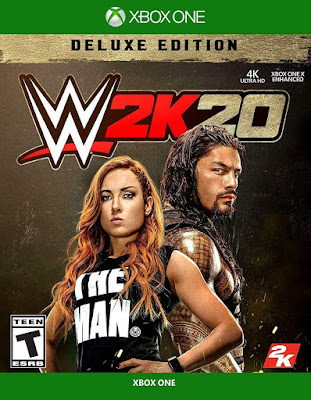 Wwe 2k20 Game Cover Xbox One Deluxe Edition