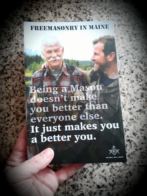 Grand Lodge of Maine. Freemasonry in Maine. book. Not Just a Man, a Mason