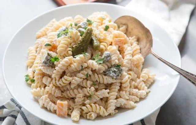Dill Pickle Pasta Salad #salad #sidedish