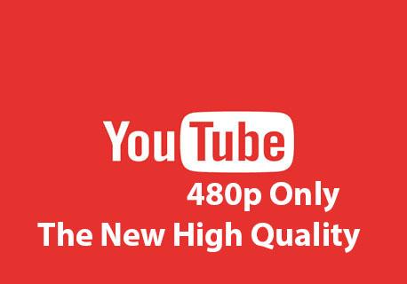 YouTube locks 480p default video quality