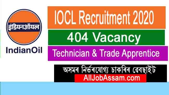 IOCL Recruitment 2020: Apply Online For 404 Technician & Trade Apprentice