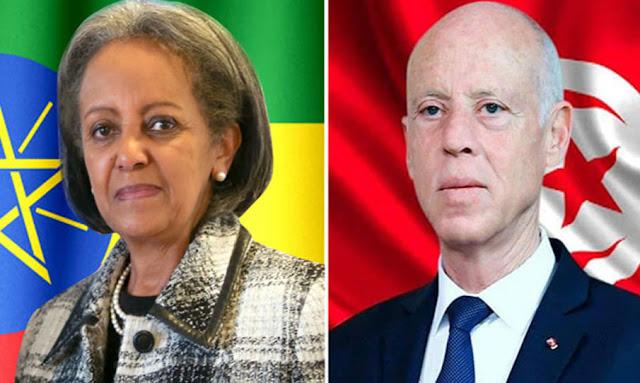 قيس سعيد يهاتف رئيسة أثيوبيا