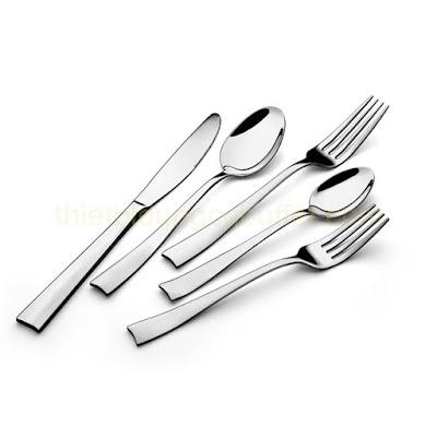Hình ảnh bộ dao muỗng nĩa 5 món inox cao cấp