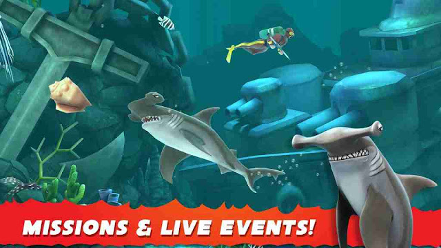 Hungry Shark Evolution Hacked Apk