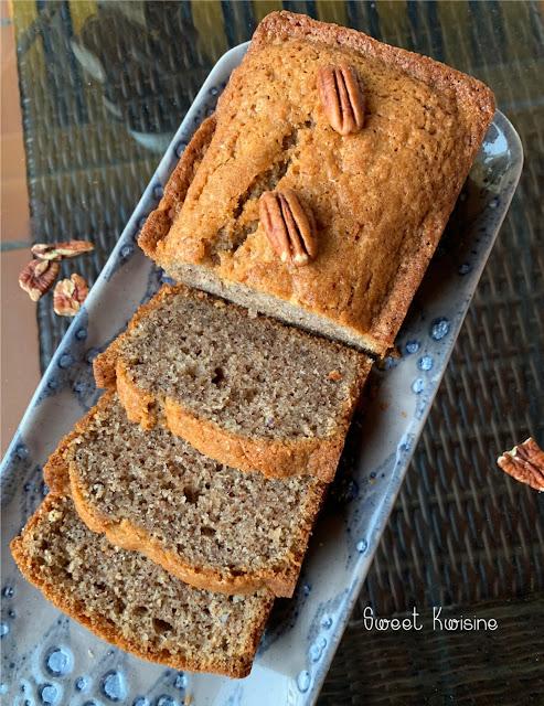 sweet kwisine, gâteau, noix de pécan, quatre-quarts, goûter