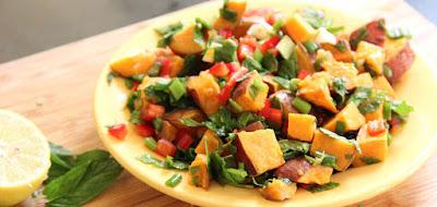 طريقة تحضير سلطة البطاطا الحلوة مع صوص المايونيز