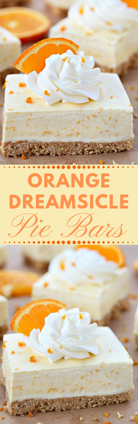 ORANGE DREAMSICLE PIE BARS RECIPE #dessert #healthyrecipe #orange #yummy #bars