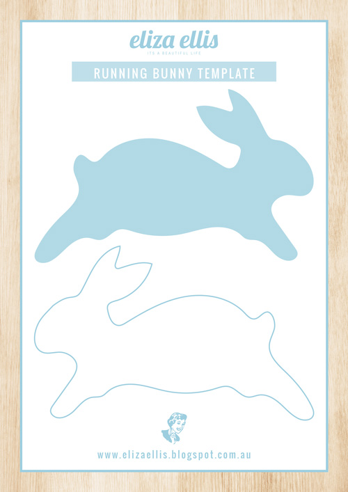 Easter Bunny Template by Eliza Ellis