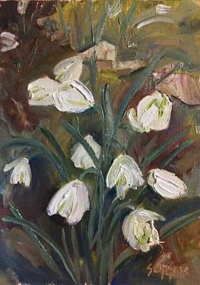 Kath Schifano, Lenten Rose, spring flowers