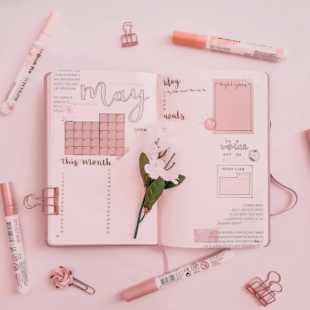 Plan With Me May Bullet Journal Layout