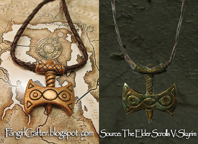 Polymer Clay Amulet of Talos Tutorial by The Fangirl Crafter