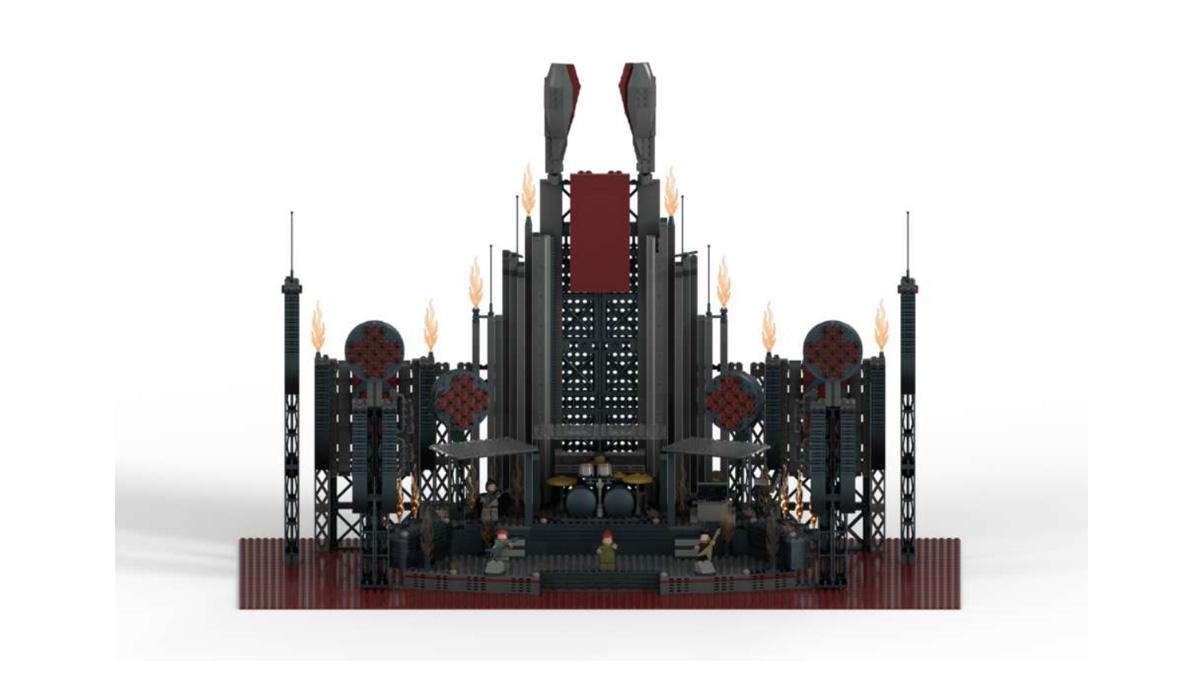 レゴアイデアで『ラムシュタイン・スタジアムツアー』が製品化レビュー進出!2021年第1回1万サポート獲得デザイン紹介