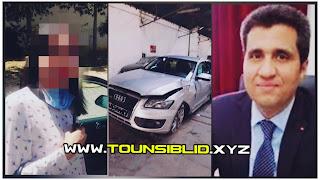 (بالفيديو) بسبب حادثة السيارة الوزارية.. إبنة وزير النقل السابق أمام القضاء بتهمة عدم ملازمة اليمين ؟