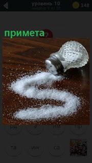 на столе рассыпана соль из валяющейся солонки как примета
