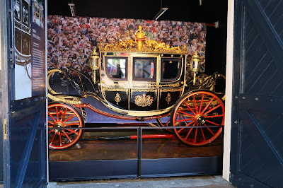 Irish State Coach at the Royal Mews, Buckingham Palace