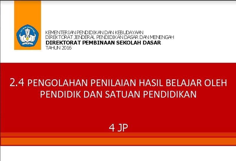 Download Materi Pelatihan Kurikulum 2013 Lengkap Tahun 2016 Format PDF