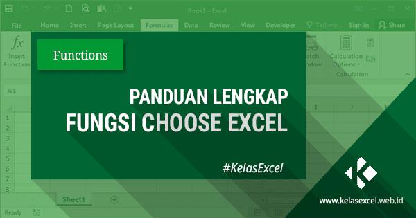 Rumus CHOOSE, Contoh dan Cara Menggunakan Fungsi Choose Pada Rumus Excel