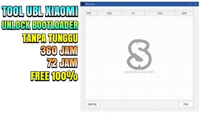 Tool Unlock Bootloader UBL Xiaomi 2019 One Click Fastboot Mode