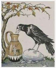 Dongeng Burung Gagak dan Sebuah Kendi (Aesop) | DONGENG ANAK DUNIA