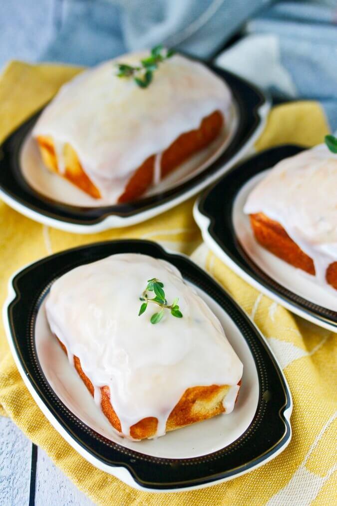 Lemon, Ricotta, & Thyme Mini Cakes