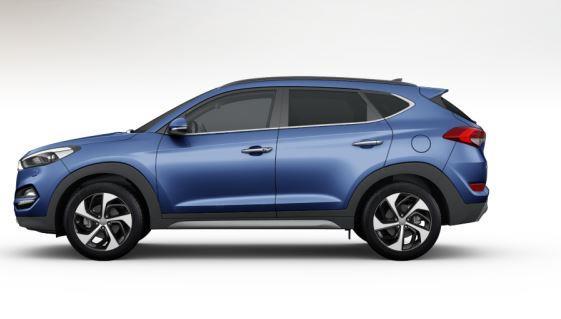 colori Nuova Hyundai Tucson 2016 Blu Scuro - Ash Blue profilo laterale