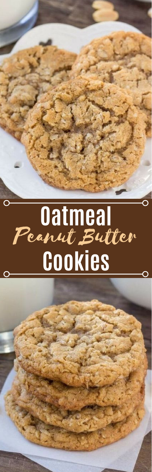 Peanut Butter Oatmeal Cookies #desserts #cookies
