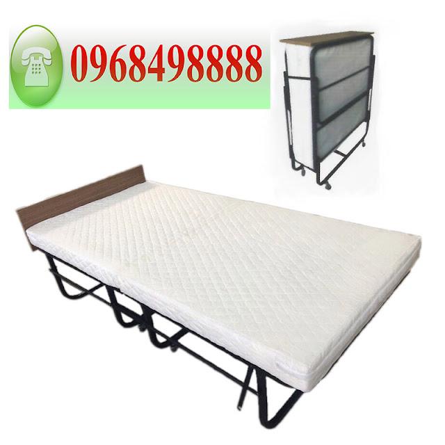 Giường phụ khách sạn nệm trắng dày 10cm