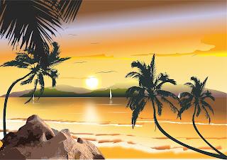 Imagem: jorgeribas, praia com conqueiro