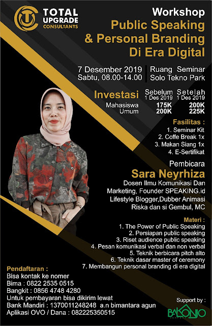 WORKSHOP PUBLIC SPEAKING DI SOLO