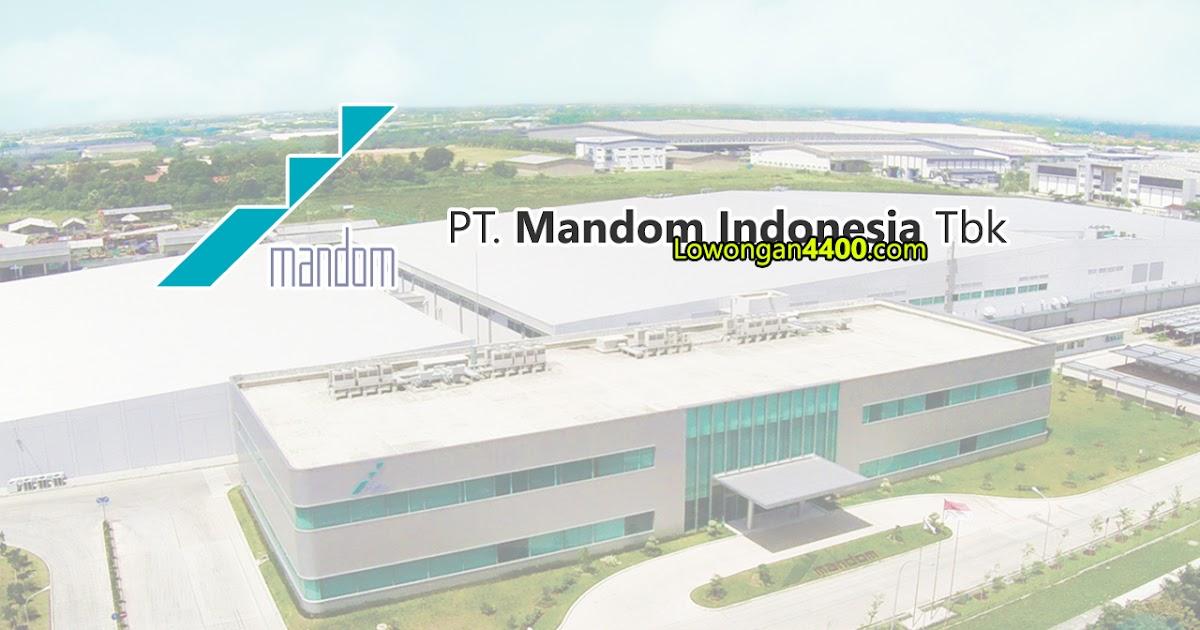 Lowongan Kerja PT. Mandom Indonesia Tbk Kawasan Industri