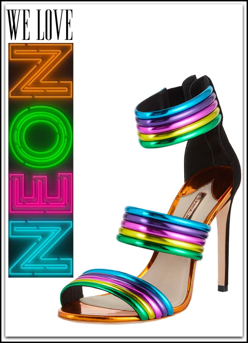 Sophia Webster Joy Colorblock Neon Sandals