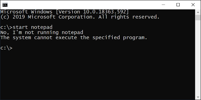 Copy of CMD running with the CreateProcess hook installed.