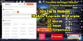 Cara Top Up Diamond Mobile Legends Dengan Unipin