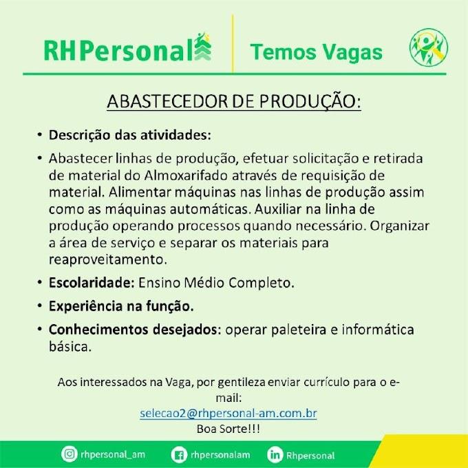 ABASTECEDOR DE PRODUÇÃO - RH PERSONAL