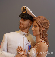 statuine sposi per torte modellini realistici ritratto sposi idea regalo matrimonio orme magiche