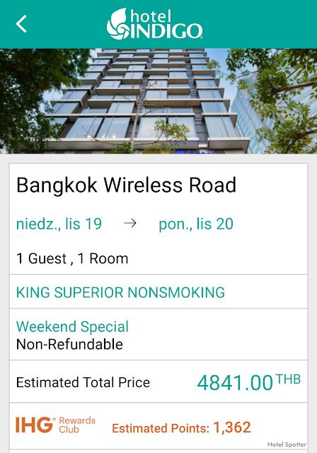 Hotel Indigo Bangkok Wireless Road - rezerwacja