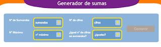 GENERADOR DE SUMAS