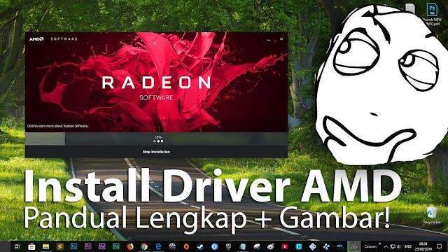Panduan! Cara instal driver amd radeon adrenalin + gambar