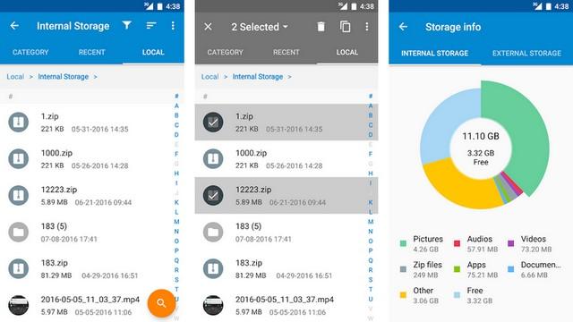 Moto-File-Manager -  أفضل تطبيقات فتح الملفات المضغوطة للاندرويد