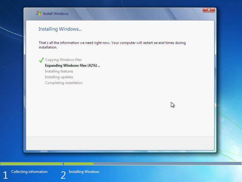 langkah 15: cara instal windows 7, transfer file