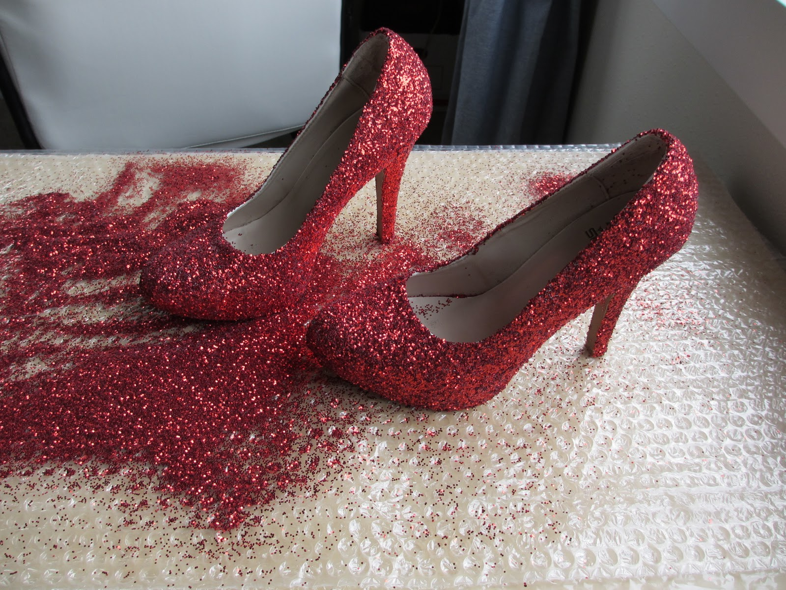 How To Make Red Glitter Dorothy Shoes