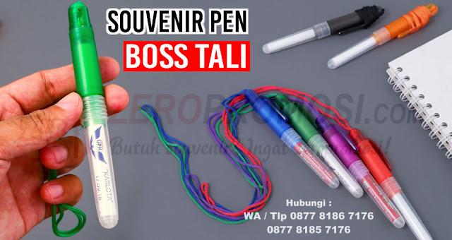 Jual Pen Boss Tali, Jual Pulpen tali Promosi, Souvenir Pen Boss Tali Warna, pulpen boss tali, pen boss tali, pulpen insert stiker, pen tali promosi
